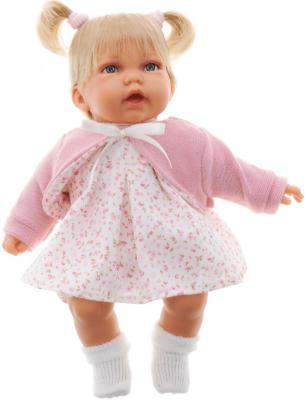Кукла Munecas Antonio Juan Элис в розовом 27 см со звуком 1227P