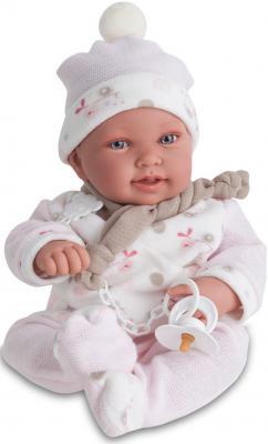 Кукла Munecas Antonio Juan Камилла в розовом 40 см со звуком 3357P