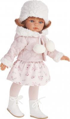 Кукла Munecas Antonio Juan Эльвира зимний образ рыжая 33 см со звуком 2586W
