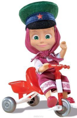 Кукла Simba Маша в фуражке с велосипедом 12 см