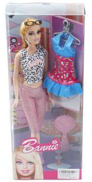 Кукла Shantou Gepai Bannie 29 см с аксессуарами
