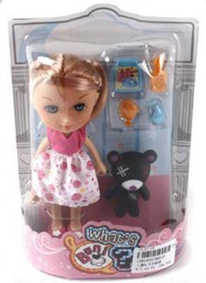 Кукла Shantou Gepai Кукла с питомцем и аксессуарами 16 см 86010