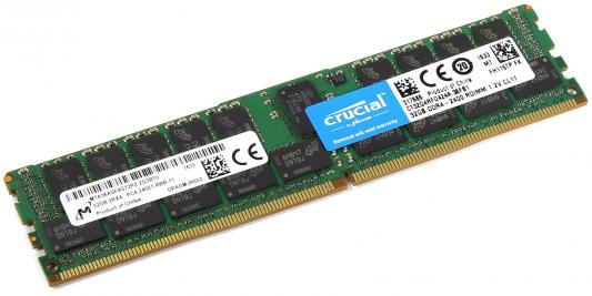 Оперативная память 32Gb (1x32Gb) PC4-19200 2400MHz DDR4 DIMM ECC ECC Registered CL17 Crucial CT32G4RFD424A оперативная память 8gb 1x8gb pc4 19200 2400mhz ddr4 dimm ecc registered cl17 hp 1ca79aa