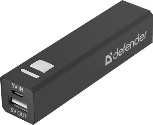 Портативное зарядное устройство Defender Lavita 2200 5V/1A USB 2200 mAh черный 83630