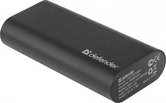 Портативное зарядное устройство Defender Lavita 5000 5V/1A USB 5000 mAh черный 83632 зарядное устройство 16800mah ipad iphone samsug usb dc 5v computure
