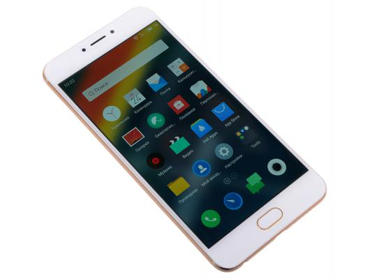 Смартфон Meizu MX6 золотистый 5.5 32 Гб LTE Wi-Fi GPS 3G M685H-32-GW смартфон meizu u20 32 gb rose gold white