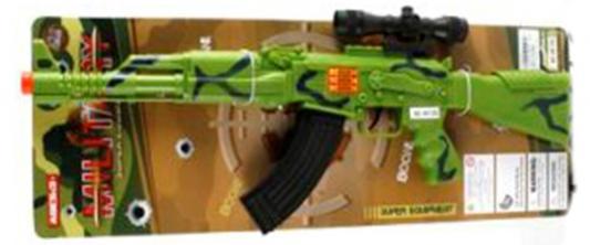 Автомат-трещетка Shantou Gepai Military - АК-74 зеленый черный AK147-126C