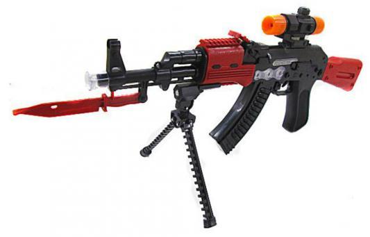 Купить Автомат Shantou Gepai 2801-17B черный красный, черный, красный, длина 52 см, для мальчика, Игрушечное оружие