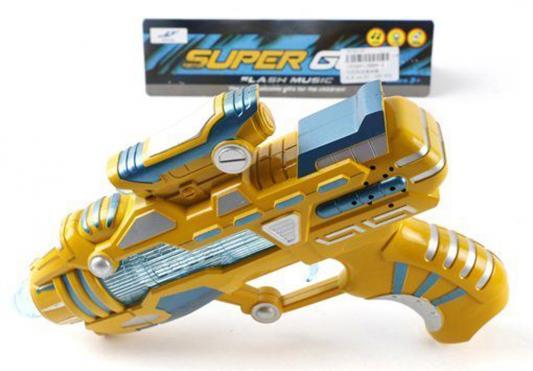 Бластер Shantou Gepai Super Gun золотистый свет, звук 6689-6