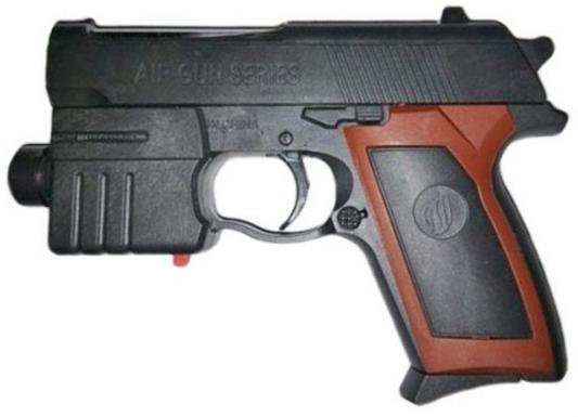 Пистолет Shantou Gepai Механический с фонариком черный коричневый Es2071-M908A