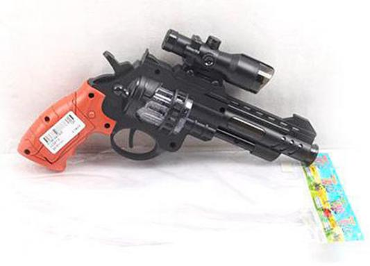 """Пистолет Shantou Gepai """"Револьвер"""" черный коричневый свет, звук LC207-4"""