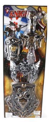 Набор Shantou Gepai оружие Рыцаря, меч+щит 583-6 серебристый 583-6
