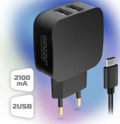 цена на Зарядное устройство GINZZU GA-3010UB 220V->5V microUSB 2А черный