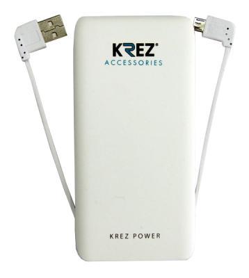 Портативное зарядное устройство Krez LP5001W 5000mAh белый