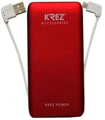 Портативное зарядное устройство Krez LP5001R 5000mAh красный