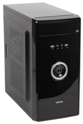 Корпус microATX Sun Pro Electronics VISTA V 450 Вт чёрный серебристый vista iii usb 3 0 450
