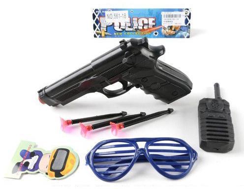 Набор оружия Shantou Gepai Полицейский черный 561-18 рации
