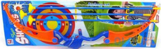 Лук Shantou Gepai со стрелами, 3 стрелы синий красный 8902D
