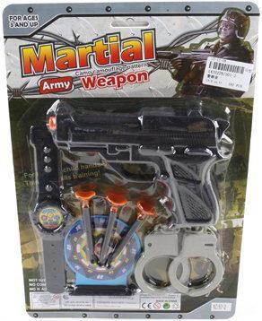 Набор оружия Shantou Gepai Полицейский черный 501-2 игрушечные инструменты shantou gepai набор инструментов маленький мастер