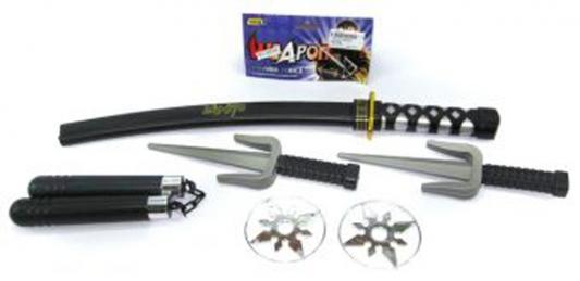 Оружие Shantou Gepai Ниндзя черный серебристый серый 6 предметов 88596