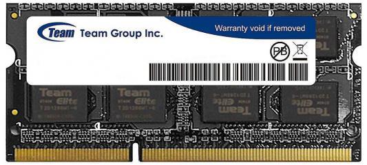 Оперативная память для ноутбуков SO-DDR3 8Gb PC4-10660 1333MHz Team Group TED38GM1333C9-S01 TED38G1333C9-S01