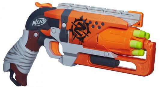 Бластер Hasbro Зомби Хаммершот оранжевый A4325