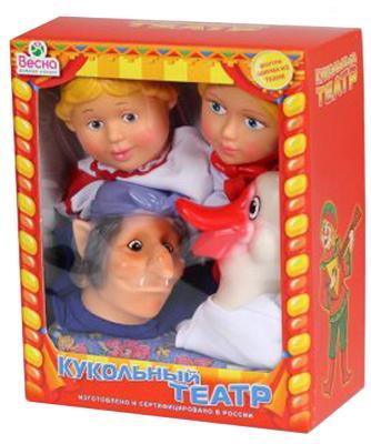 Кукольный театр Весна 4 персонажа с ширмой №3 5 предметов В2931