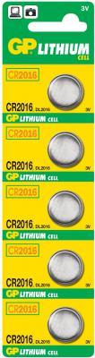 Батарейки GP CR2016-7C5 CR2016 5 шт