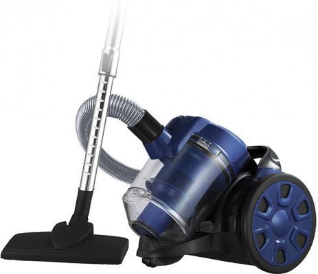 Пылесос Lumme LU-3208 сухая уборка синий чёрный пылесос электровеник hyundai handstick vch05 сухая уборка чёрный синий