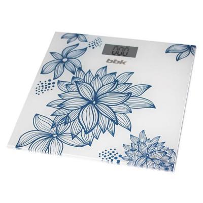 Весы напольные BBK BCS3000G бело-голубой