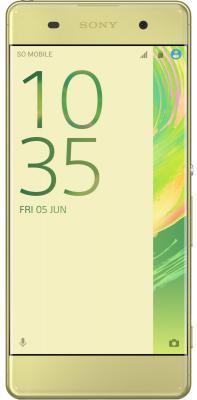 "Смартфон Sony Xperia XA F3111 16Gb зеленый лайм моноблок 3G 4G 5"" 720x1280 Android 6.0 13Mpix 802.11abgnac BT GPS GSM900/1800 GSM1900 MP3 FM A-GPS microSDXC max200Gb"