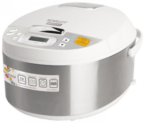 Мультиварка Scarlett SC-MC410S14 серебристый белый 700 Вт 4 л мультиварка scarlett sc mc410s14 серебристый белый sc mc410s14