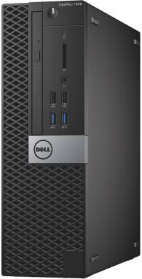 Системный блок Dell Optiplex 7040 SFF i5-6500 3.2GHz 4Gb 500Gb HD530 DVD-RW Win7Pro Win10Pro клавиатура мышь серо-черный 7040-0071