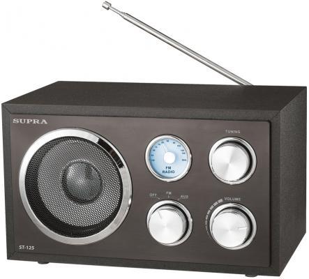 Радиоприемник Supra ST-125 черный телевизор supra stv lc32t700wl
