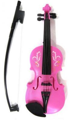 Скрипка Shantou Gepai  роз., 25 см, пакет 369B pink