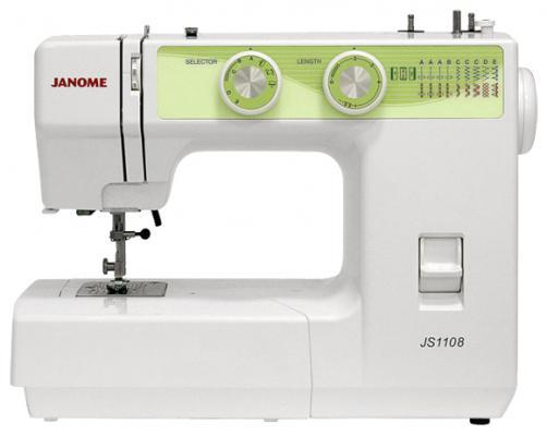 Швейная машина Janome JS1108 белый/зеленый