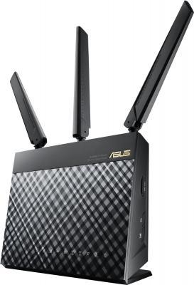 Маршрутизатор ASUS 4G-AC55U 802.11aс 1167Mbps 2.4 ГГц 5 ГГц 4xLAN USB черный