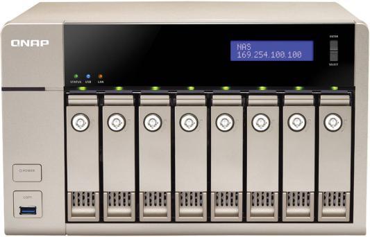 "Сетевое хранилище QNAP TVS-863-4G 2.ГГц 8x3.5/2.5""HDD hot swap RAID 0/1/5/6/10 2xGbLAN 5xUSB 1xHDMI"