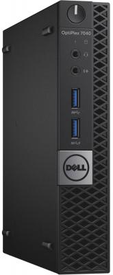 Неттоп DELL OptiPlex 7040 Micro Intel Core i5-6500T 8Gb SSD 256 Intel HD Graphics 530 Windows 7 Professional + Windows 10 Professional черный 7040-0125 7040-0125