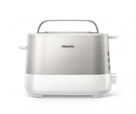 Тостер Philips HD2637/00 серебристый белый тостер philips hd2586 20 серебристый