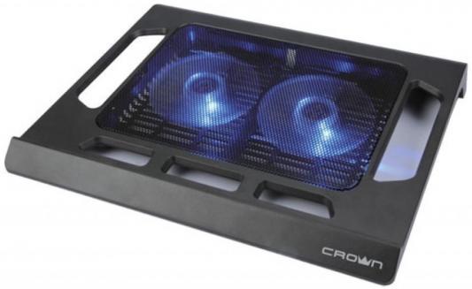 """лучшая цена Подставка для ноутбука 15.6"""" Crown CMLS-937 290x350x45mm USB 510g черный"""