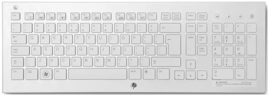 Клавиатура беспроводная HP Wireless K5510 Keyboard USB белый H4J89AA клавиатура dell kb522 wired business multimedia keyboard black usb 580 17683