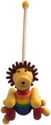 Каталка на палочке Mapacha Львёнок разноцветный от 3 лет дерево 76639