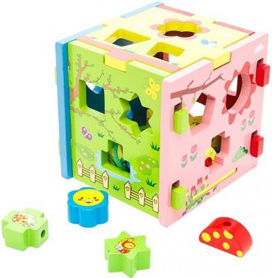 Купить Развивающая игрушка Mapacha Кубик Радужный 76644, Развивающие игрушки из дерева