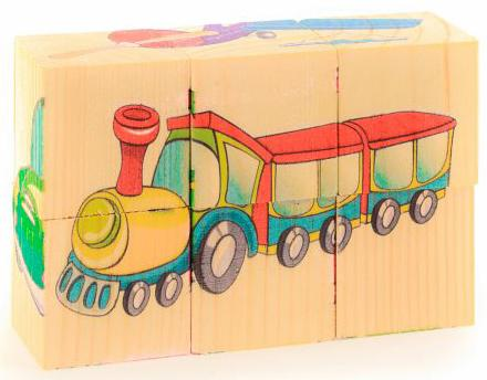 Кубики Русские деревянные игрушки Транспорт 6 шт. Д488а кубики русские деревянные игрушки репка 4 шт д504а