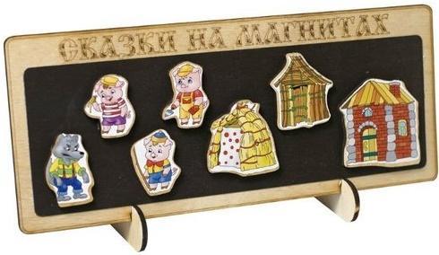 Кукольный театр Бэмби Три поросенка 8 предметов к-0543/5 кукольный театр бэмби курочка ряба 8 предметов к 0543 6