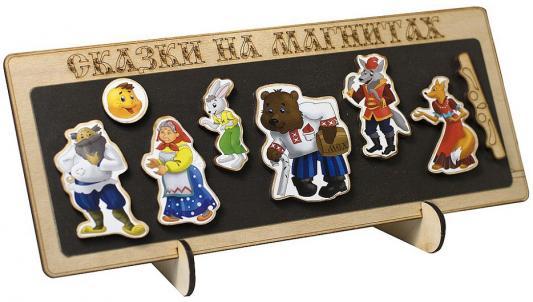 Сказка на магнитах Бэмби Колобок 8 предметов к-0543/2 обучающая игра нескучные игры сказки на магнитах теремок к 0543 8