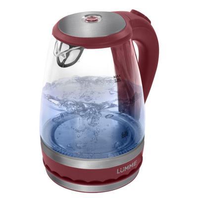 Чайник Lumme LU-220 2200 Вт 1.8 л пластик/стекло красный гранат
