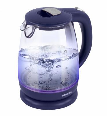 Чайник Marta MT-1058 2200 Вт синий 1.7 л пластик/стекло от 123.ru