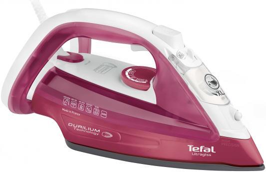 Утюг Tefal FV4920E0 2400Вт розовый/белый утюг tefal power jeans 450